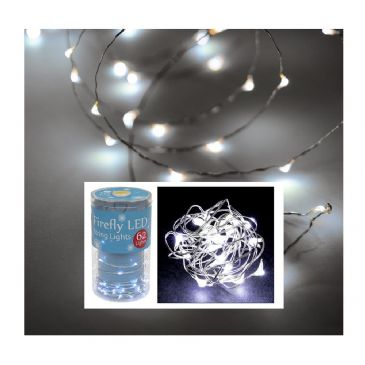 Firefly Fairy String Lights x 62 Bright Cool Clear White  300cm 3 Metres,